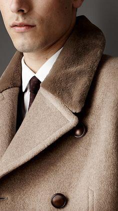 8caf7a38 Mink Collar Cashmere Coat Burberry | Cynthia Reccord Burberry Trench Coat,  Trench Coat Men,