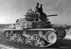 Fiat-Ansaldo M13/40 A Fiat-Ansaldo M13/40 of XX Armored Corps. XX Corps, consisting of the Ariete and Littorio Armored Divisions and the Trieste Motorized Division. One of the bigger of the Italian very small WW2 tanks.