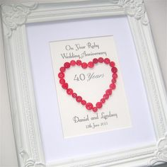 Ruby Wedding Gift Ideas For Parents Uk : ... anniversary, Ruby anniversary and Ruby wedding anniversary gifts