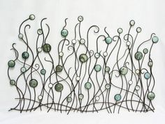 Seaweed Metal and shell wall art