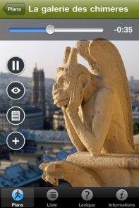 Audio guide for visiting Our Lady of Paris (Notre-Dame de Paris) with your iPhone. #iphone #Paris #audioguide #application #visit #NotreDame