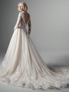 Long Sleeve Lace Ball Gown Wedding Dress on Kleinfeld Bridal Long Wedding Dresses, Designer Wedding Dresses, Gown Wedding, Dream Wedding, Lace Wedding, Long Sleeve Bridal Dresses, Royal Wedding Gowns, Mermaid Wedding, Lace Sleeve Wedding Dress