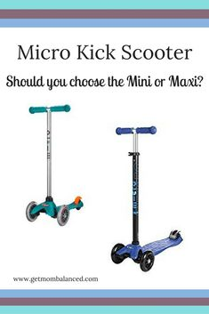 Mirco Scooters are great: this comparison can help you choose the Mini or the Maxi version of the Micro Kick Scooter. We love our Micro Maxi!