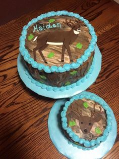 1st Birthday Hunting Wsmash Cake The Dad Loves To Hunt So I Used