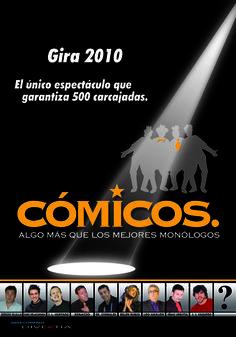 Cartel de CÓMICOS gira 2010