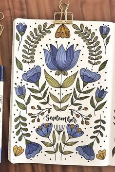 Best September Monthly Cover Ideas For 2020 - Crazy Laura - - Fall is a great time to switch up your bullet journal theme! Check out the best September monthly cover ideas and examples for inspiration to get started! Bullet Journal Titles, Bullet Journal Cover Ideas, Bullet Journal Notebook, Bullet Journal Aesthetic, Bullet Journal Inspo, Journal Covers, Bullet Journal September Cover, Junk Journal, Bellet Journal