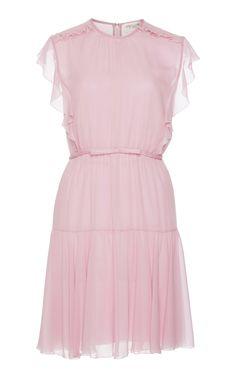 Giambattista Valli Short Sleeve Silk Mini Dress