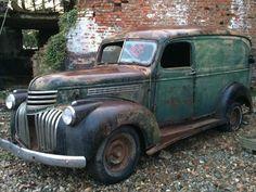1946 Chevrolet Chevy Van Hotrod V8 Delivery shop truck barn find pickup in Cars…