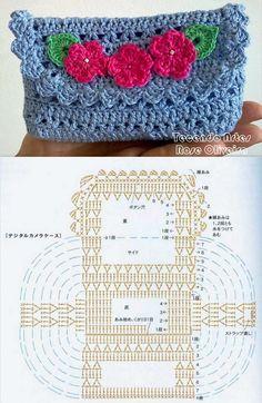 crocheted bag chart༺✿ƬⱤღ http://www.pinterest.com/teretegui/✿༻