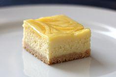 Lemon Swirl Cheesecake Bar