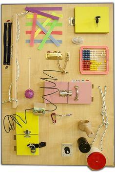 Manipulační (montessori) deska pro nejmenší,