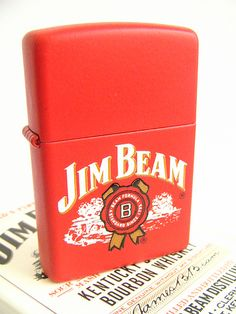 Jim Beam Red Matte Zippo Lighter | Flickr - Photo Sharing!