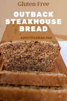 This tasty gluten free outback steakhouse bread is so good, you'll never guess it's gluten free! So tender and melt-in-your-mouth delicious! #zestforbaking #glutenfreebread #glutenfreerecipes #glutenfreebaking Gluten Free Quick Bread, Gluten Free Treats, Gluten Free Baking, Gluten Free Recipes, Vegan Recipes, Bread Recipes, Bread Baking, Yeast Bread, Gluten Free Thanksgiving