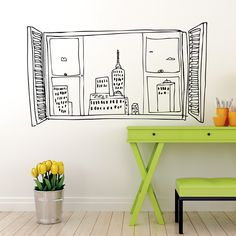 Vinilo Ventana Empire State by Carrmen ::: Empire State Window wall sticker by Carrmen