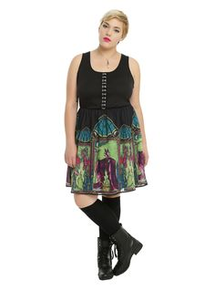 Disney Sleeping Beauty Maleficent Stained Glass Dress Plus Size | Hot Topic