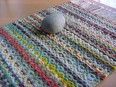 Susan Johnson: Avalanche Looms | ulm | wool | hand dyed, new blanket wool remnant | 2009