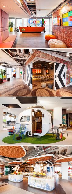 "The masters of quirky office space are at it again... this time it's their new Amsterdam offices... (from FastCompany: ""Google's New Amsterdam Offices Are Extremely Dutch"") #Google #Amsterdam #officedesign"