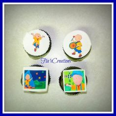 Caillou Cupcakes  Cake by FiasCreations