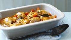 This big pot of chicken and tomato stew is perfect for a mid-week family meal.