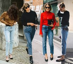 Everyday uniform: mom jeans + solid sweater for a no-fail polished outfit combo
