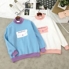 Envelope Embroideried Color Blocking Sweatershirt  $22.90  10% off discount code sweetbox for new arrivals