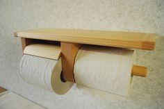 1ストック天板木製トイレットペーパーホルダー【ひのき】限定品 Toilet Paper