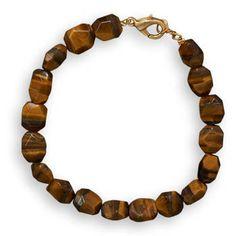 MEN'S 8 inch Tiger's Eye Fashion Bracelet by ForsgateJewelry, $24.00