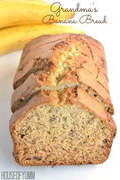 The Best Banana Bread Ever!  Just like Grandma used to make!
