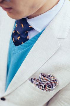 Pug Silhouette Print Tie #menswear