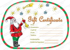Christmas Ball Trees Gift Certificate Template  Gifting