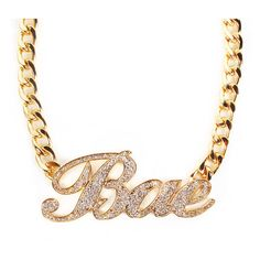 BAE Necklace ($30) ❤ liked on Polyvore featuring jewelry, necklaces and accessories