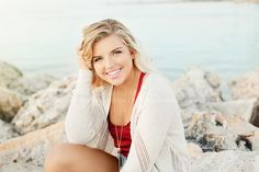 Florida Beach Senior photography on the rocks in Clearwater Beach with Theresa Marie Tampa Photographer