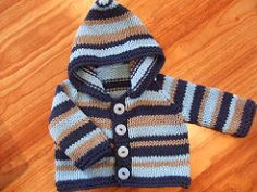 Top down, very easy and quick baby hoodie.