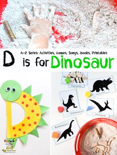 Learn about the letter D with these creative Dinosaur activities that are sure to delight! These crafts and learning ideas are perfect for a Letter of the Week or other A-Z series for your preschooler. Dinosaur fans will love them, too! Dinosaurs Preschool, Dinosaur Activities, Dinosaur Crafts, Preschool Letters, Preschool Themes, Kids Learning Activities, Alphabet Activities, Preschool Activities, Dinosaur Printables