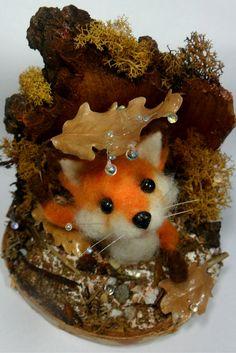 Little felt fox by Antonella Pastorelli. With DHG wool…