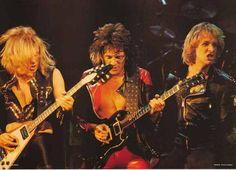 Judas Priest 1970s Live Trio Rare Poster