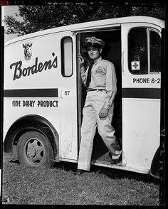 Borden's Milk Man delivered the milk in glass bottles right to your door