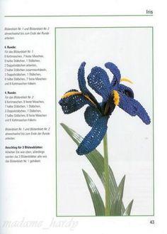 SOLO PUNTOS: crochet lirio Crochet Flower Patterns, Crochet Flowers, Crochet Bouquet, Point Lace, Iris Flowers, Freeform Crochet, Flower Making, Tatting, Diy And Crafts