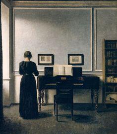 'Interior With Piano and Woman in Black (Strandgade 30)' (1901) by Vilhelm Hammershøi; Staatsgalerie Stuttgart, Stuttgart What a fun th...