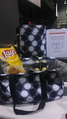 "So clever! This silent auction item is titled ""All that and a bag of chips!"" People will remember it because they made an ordinary item unique! Great job, Grandview Heights!"