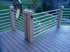Cedar and pipe deck railing, now that's cool!
