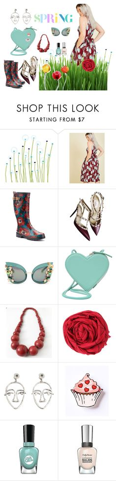 """""""first flowers"""" by fabulous-monsters ❤ liked on Polyvore featuring Avalisa, Chooka, Valentino, Dolce&Gabbana, Christopher Kane, MANGO and Sally Hansen"""