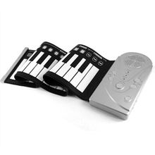 49 Keypad Portable Folding Piano Silicone Soft kids Beginner Practice Player Musical Instrument With Speaker Children's toys(China (Mainland))