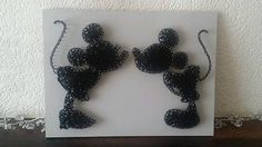 Minnie Mickey Disney string nail art. Unique in Home, Furniture & DIY, Home Decor, Wall Decals & Stickers   eBay
