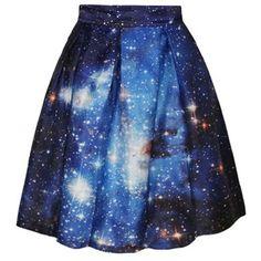 Chicnova Fashion Flared Skirt ($13) ❤ liked on Polyvore featuring skirts, high waisted skirts, skater skirt, blue pleated skirt, pleated skater skirt and print skater skirt