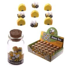 Shop today for Novelty Kids Bee Design Eraser Set by weeabootique !