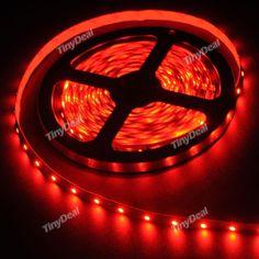 5m 12V 2.88W/m SMD 3528 300-LED 60pcs/m Indoor Strip Light Decoration Lights - Red HLT-349068