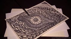 ~My New Zen Tangle Drawings ~ ASMR Paper Sounds~ Pointer~ Whispering~ So...