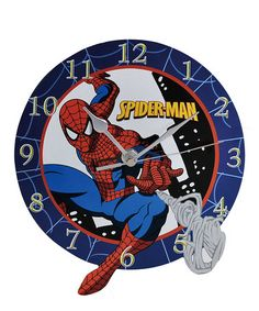 Take a look at this Spider-Man Wall Clock by Westland Giftware on #zulily today!