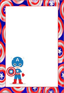 Captain America Free Printable Invitations, Cards or Images.